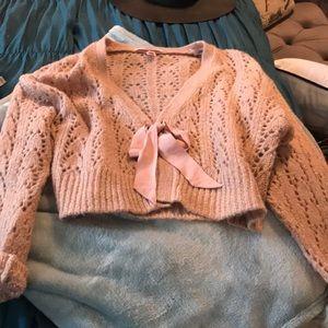 Adorable pink sparkly Victoria secret sweater